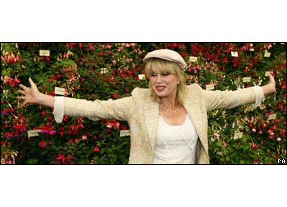 Joanna Lumley at the Chelsea Flower Show