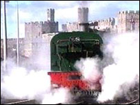 Steam train at Caernarfon
