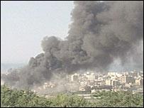 Smoke rising above Tripoli - 21/5/07