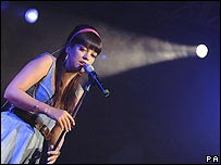Lilly Allen, one of EMI's main artists