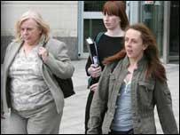 Bernadette McAliskey (left) accompanied her daughter (right)