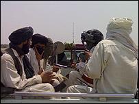 Pakistani Taleban on a truck