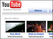 Screengrab of YouTube homepage, Google