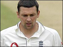 Steve Harmison struggled with his line and length at Lord's