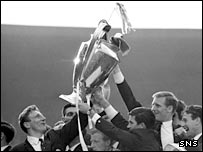 Celtic with the European Cup