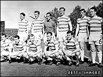 Celtic's line-up in Lisbon