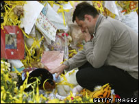 Gerry McCann with tributes