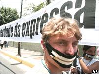 Manifestantes en Caracas