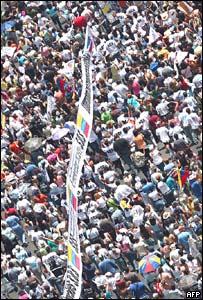 Manifestación en Caracas contra el cierre de RCTV