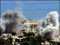 Smoke coming from Palestinian refugee camp - 21 May