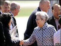 La vice premier china Wu Yi llega a Estados Unidos
