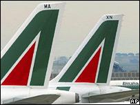 Alitalia aeroplanes