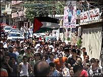 Campamento palestino en Líbano.