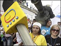 Marcha contra el retiro de la concesi�n de RCTV