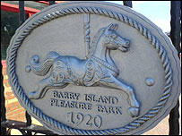 Barry Island pleasure park sign