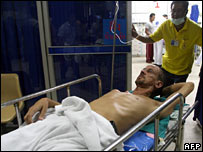 Philip Blenkinsop in hospital 22-05-07