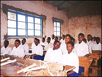 School children in Tanzania.