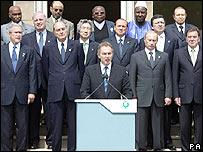 Líderes del G8