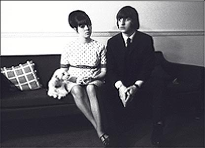Ringo Starr with first wife Maureen Cox at Montagu Square, London