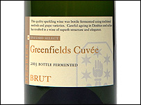 Label of the gold medal-winning sparkling wine (from Denbies Wine Estate)
