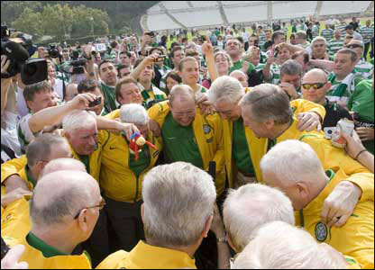 Some of the Lisbon Lions returned to the scene of their triumph last year