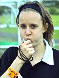 Rachel the Your Game referee from Newcastle