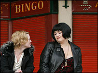 Scene from BBC3 comedy Gavin and Stacey, set in Barry Island