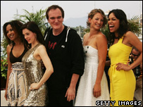 Quentin Tarantino and the stars of Death Proof