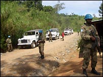 Pakistani troops in DR Congo in 2007