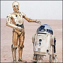 C-3PO and R2-D2 in Star Wars