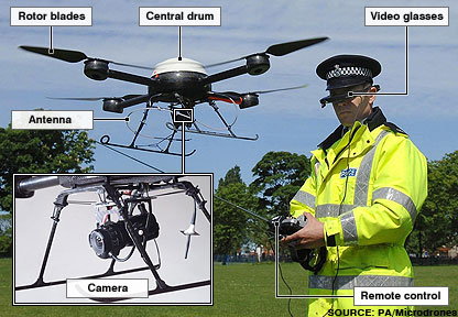 Drone Aircraft on News   Uk   England   Merseyside   Pilotless Police Drone Takes Off