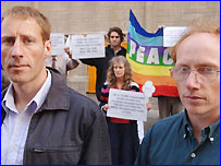 Toby Olditch (left) and Philip Pritchard