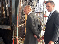 The Duke of Edinburgh visiting the Cutty Sark