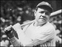 Baseball legend Babe Ruth