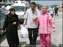 Refugees from the Nahr al-Bared camp in Lebanon