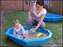 Hannah Erickson and son Dylan
