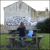 Child on bench. Photo: Barnado's, posed by model