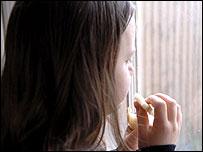 Child eating. Photo: Barnado's, posed by model