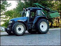 The tractor [Pic: Courtesy Grampian Police / Crown Office]