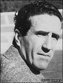 Former Inter Milan coach Helenio Herrera