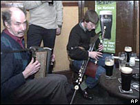 Musicians in a pub