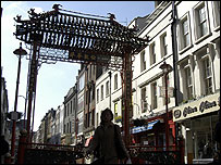 Chinatown, central London