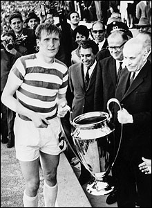 Celtic captain Billy McNeill collects the European Cup