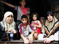 Palestinian refugees fleeing violence