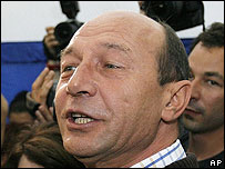 Romanian President Traian Basescu. File photo