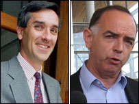 Welsh Secretary John Redwood in 1993 and Nick Bourne today