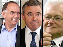 Conservative Nick Bourne, Plaid Cymru's Ieuan Wyn Jones and Liberal Democrat Mike German