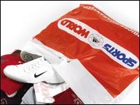 Sports World carrier bag