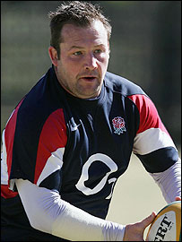 England hooker Mark Regan