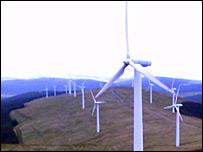 Wind farm at Windy Sound
